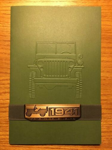 set of 4 with 4 emblems 4 Jeep Booklet 75th Anniversary Emblem Brochure