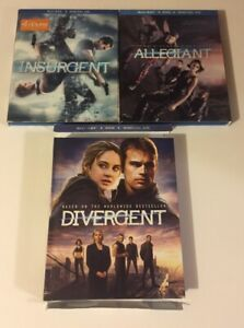 Divergent-Trilogy-Blu-Ray-Three-movies-with-DVDs