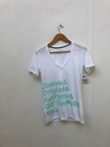 f1b1c8765d Vans Of The Wall Women s Key Objective T-Shirt - Small - White - New ...