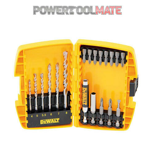 Dewalt DT7928 19 Piece Masonry Screwdriver Drill Driver Bits + Tough Case Set