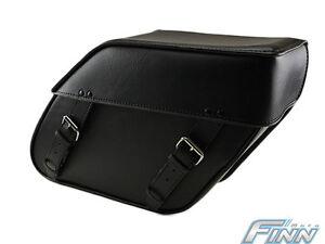 REDUCED - Black Motorcycle Lockable Saddlebags Set Model 110L Plain FREE POSTAGE