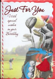Image Is Loading JUST FOR YOU BIRTHDAY CARD 3D ATTACHMENTS GOLF