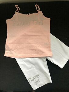 Flower-girl-children-039-s-pjs-kids-personalised-pyjamas-Childs-bridesmaids-vest-top