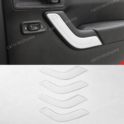 4PCS Inside Chrome Door Handle Cover frame Trim jeep Wrangler 4door 2011-2017