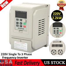 3hp Variable Frequency Drive Inverter Single To 3 Phase Cnc Vfd Vsd 400hz 22kw