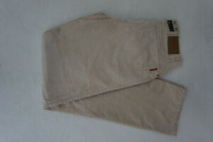 ALBERTO Tommy Herren Jeans comfort fit cord Hose Gr.90 ca. W31 L34 creme NEU#E23