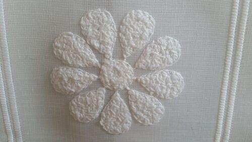 22,00€//1qm Scheibengardine Creme Stick Blüte 30 cm o ab 1 Met 45 cm Höhe// Br