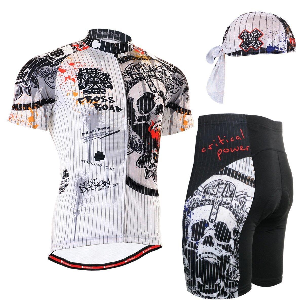 FIXGEAR CS-902-SET Cycling Jersey & Shorts Padded, Bicycle Wear, MTB Road Bike