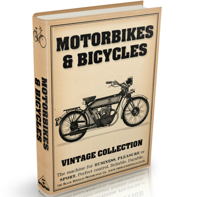36 Rare Motorbike and Bicycle Books on DVD Bikes Cycles Repairs Engines Vintage