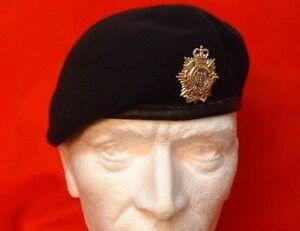 OR-S-Royal-Logistic-Corps-Beret-amp-Metal-Beret-Badge-RLC-Navy-Blue-Beret
