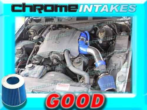 "BLUE 96-02 FORD CROWN VICTORIA/MERCURY GRAND MARQUIS 4.6 V8 FULL AIR INTAKE 3.5"""