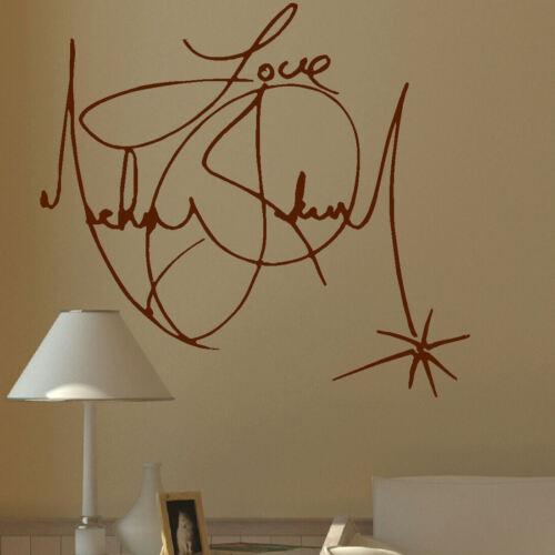 LARGE MICHAEL JACKSON SIGNATURE CHARITY WALL MURAL GIANT ART STICKER DECAL VINYL