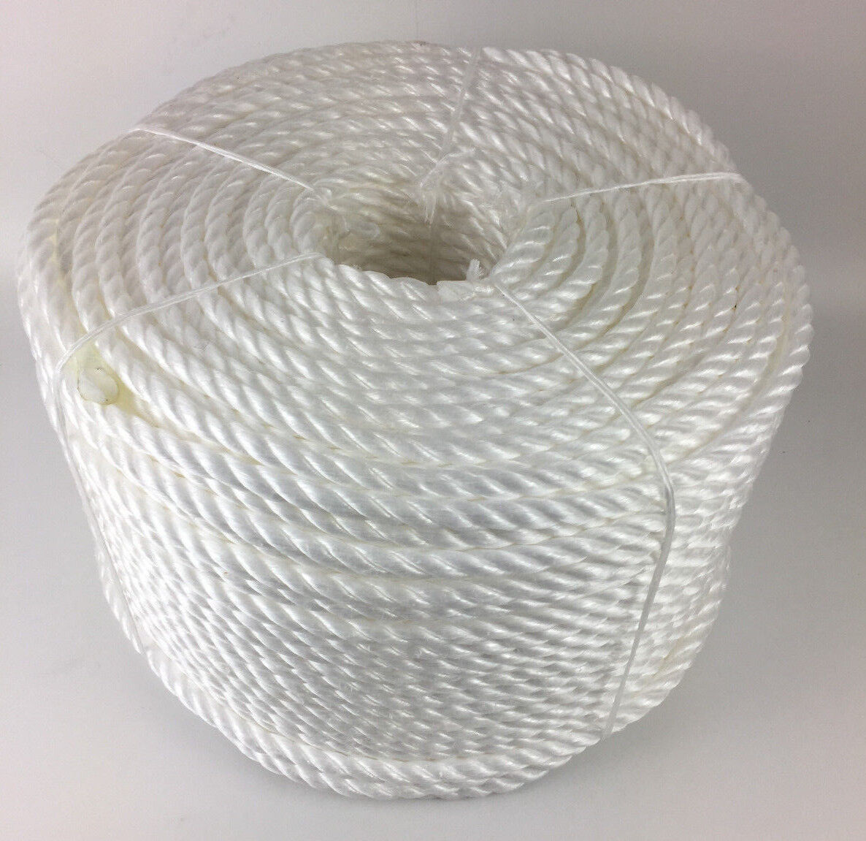 24mm Weiß Polypropylen Seil X 45 Meter, Poly-Seil Rollen, Preiswert Nylon Seil