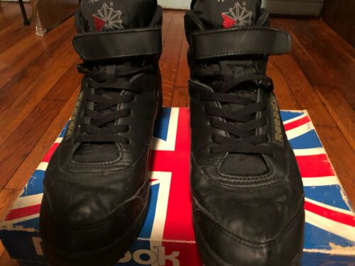 Black High Top Reebok Sneakers Size 10