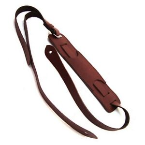DSL-VS20-50s-Vintage-Style-Leather-Guitar-strap-Maroon