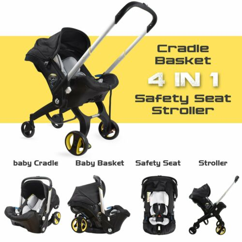 3 in 1 Baby Stroller Travel System Pushchair Car Seat Carrycot Buggy Stroller