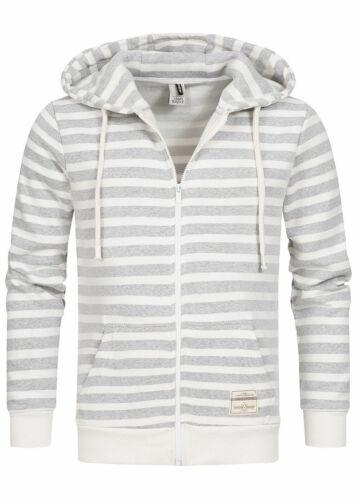 40/% OFF B19104259 Herren Eight2Nine Pullover Zip Hoodie Jacke Streifen weiß grau