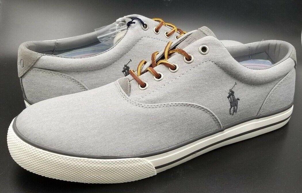 Polo Ralph Lauren  Men's Vaughn Sneaker (Soft Grey, 13D)