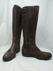 80d26d2d05ab3 Merrell Vera Peak Espresso Brown Leather Knee High Tall Riding Boots ...