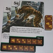 2 X AGENT X: TRAINED BY TASKMASTER 42 Deadpool Dice Masters