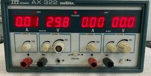 Dual Output DC Power Supply AX 323 Metrix 0-30V, 2.5A Alimentation double METRIX