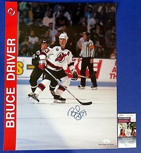 BRUCE DRIVER SIGNED 17x22 POSTER ~ NJ Devils ~ JSA KK24699