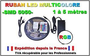 Ruban-led-RGB-smd5050-de-1-a-5-m-seul-ou-kit-complet-avec-telecommande