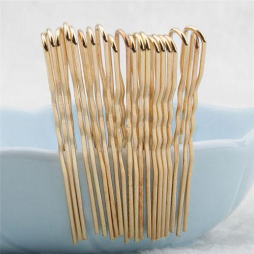 20PCS Hair Waved U-shaped Bobby Pin Barrette Salon Grip Clip Hairpins HairDLUK