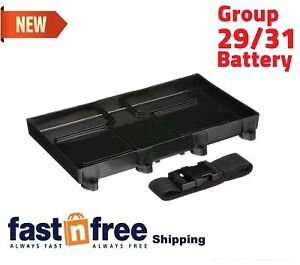 Marine//Boat Battery Group 29 /& 31 Tray Holder with Stainless Steel Buckle