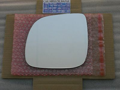 New Replacement Mirror Glass with FULL SIZE ADHESIVE for VOLKSWAGEN BEETLE JETTA Driver Side View Left LH