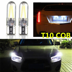 10x White T10 194 168 W5W COB LED CANBUS Silica Bright Glass License Light Bulbs