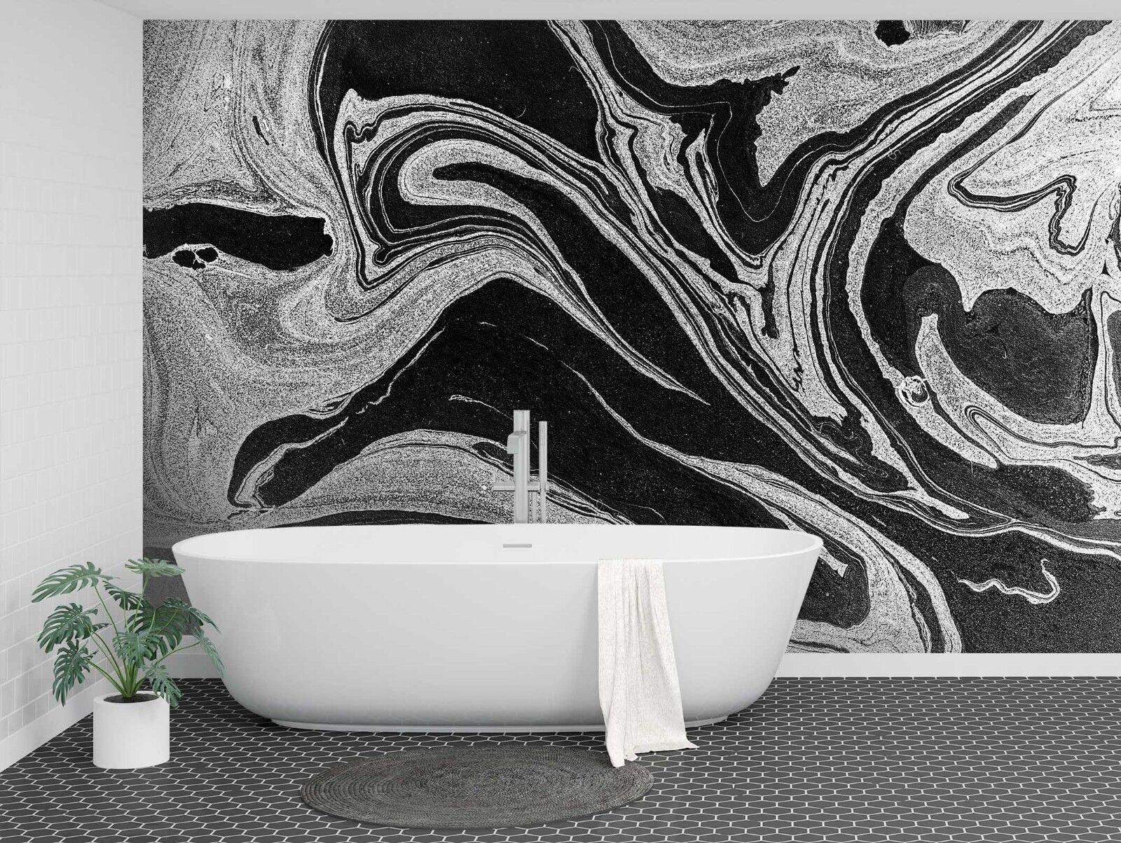 3D Schwarz Muster 7568 Textur Fliesen Marmor Tapeten Abziehbild Tapete Wandbild