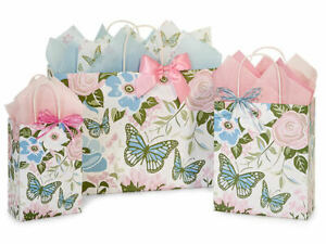 BUTTERFLY GARDEN Design Party Gift Paper Bag ONLY Choose Size & Pack Amount