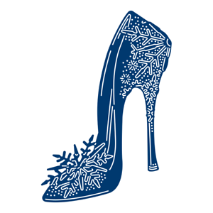 38020b83f3261 Details about Tattered Lace Fantasy Christmas SNOWFLAKE SLIPPER Die -  TLD0540 - High Heel Shoe