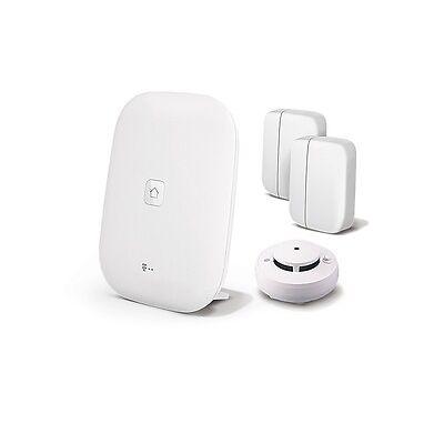 Magenta Smart Home Paket mit Homebase, Rauchmelder und 2 Fenstersensoren