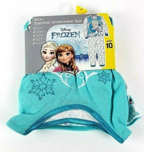 Disney Frozen Girls Thermal Underwear Pajama Set Size 10 Ana//Olaf New
