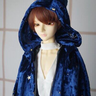 Black Wizard Cloak Outfits Coat For  BJD 70cm SD17 Uncle AOD AS Luts dollfie