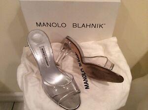 manolo blahnik clear sandal