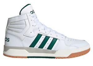 Scarpe-uomo-Adidas-ENTRAP-EG4308-sneakers-alte-pelle-sportive-ginnastica-bianche