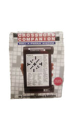 CROSSWORD COMPANION Roll-A-Puzzle System NEW IN BOX 48 Puzzles Handheld Travel