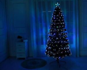 Details About New Boxed 4to7ft Green Led Fibreoptic Xmas Tree Lights Pre Lit Decoration Uk