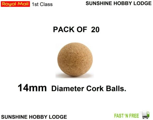 Carp Fishing Cork Balls 12mm 14mm For Pop Up Bait Poppers Boilie Inserts 20 Pack