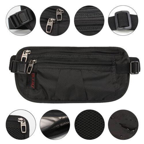Premium Waist Bag Belt Outdoors Fanny Pack Hip Pack Bum Bag Wallet Purse-Black