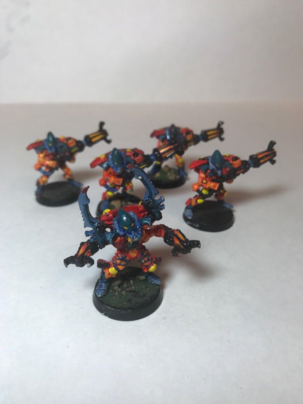 Warhammer 40K painted Eldar Warp Spiders Sqaud