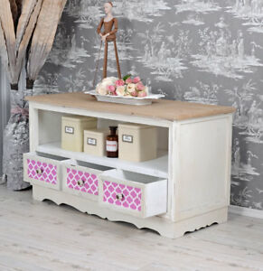 TV Board Rack Sideboard TV Table Shabby Chic Antique Style Living ...