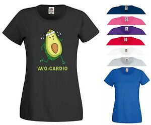 a77f20c6 Image is loading Avocardio-Funny-Gym-T-Shirt-Cardio-Exercise-Motivational-