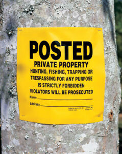 """POSTED Private Property"" Signs Roll of 200"
