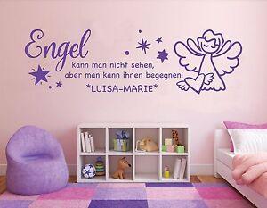 Wandtattoo fürs Schlafzimmer Kinderzimmer Aufkleber Baby Engel ...