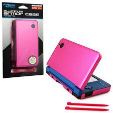 Nintendo DSi XL Aluminum Armor Case & Dual Stylus Set - Hot Pink