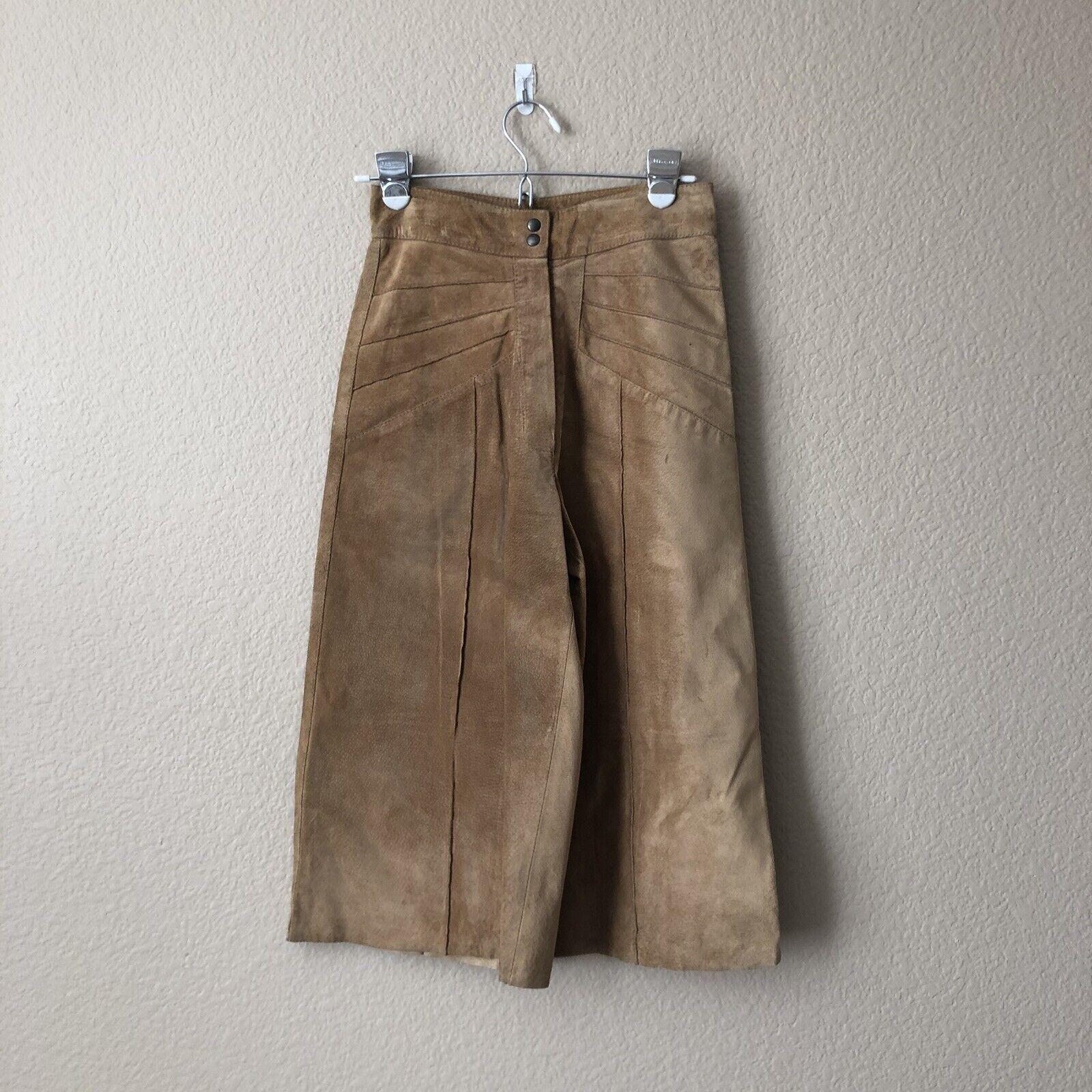 Alexander Mcqueen damen  Cropped Leather Pant Größe 42